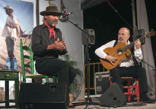 'El Cabrero' y Rafael Rodríguez en la Noche Flamenca de Zambra 2012. Foto: Toni Blanco.