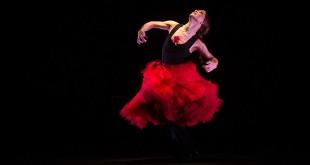 Olga Pericet, en uno de los momentos de su actuación en el Teatro Góngora de Córdoba. Foto: Miguel Valverde.