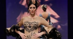 Colección de trajes de flamenca de Inés de la Fuente en Simof 2016. Foto: Chema Soler.