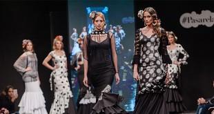 Colección de trajes de flamenca de la diseñadora Ángeles Verano en la Pasarela Flamenca de Jerez 2016. Foto: SIC Fotógrafos.