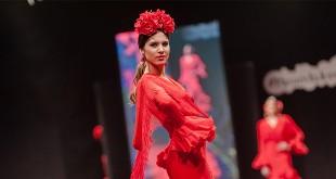 Nueva colección de flamenca de Faly, de la Feria al Rocío en la Pasarela Flamenca de Jerez 2016. Foto: SIC Fotógrafos.