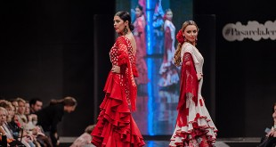 Colección de trajes de flamenca de Merche Moy en la Pasarela Flamenca de Jerez 2016. Foto: SIC Fotógrafos.