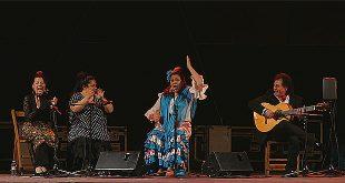 La cantaora gaditana Carmen de la Jara, durante su actuación en el VIII Festival Flamenco de Córdoba.