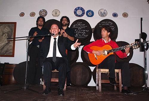 Jeromo Segura y Niño de Pura en la Peña Flamenc el Lucero de Montilla