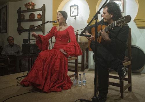 Beatriz Romero y Antonio Carrión, en el Rincón del Cante. Foto: Toni Blanco.