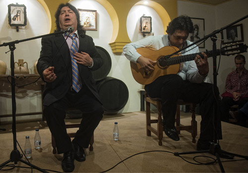 Cancanilla de Málaga y Manuel Flores, en el Rincón del Cante. Foto: Toni Blanco.