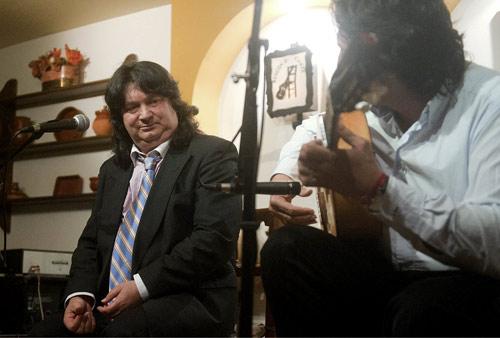 Cancanilla de Málaga y Manuel Flores en el Rincón del Cante.Foto: Toni Blanco