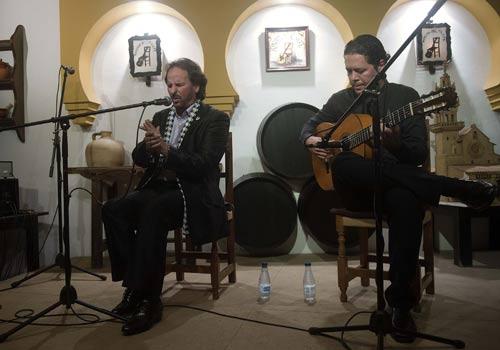 El Polaco y Manuel Herrera en el Rincón del Cante. Foto: Toni Blanco.
