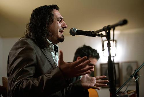 Recital de cante de Antonio Mejías en la Peña Rincón del Cante..Foto: Toni Blanco.
