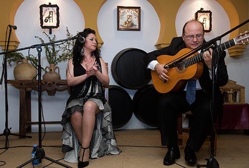 Recital de cante de Peña Abad en la Peña Rincón del Cante.Foto: Toni Blanco.