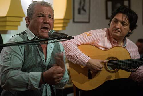 Recital de cante de Joselete de Linares en la Peña Flamenca Rincón del Cante.Foto: Toni Blanco.