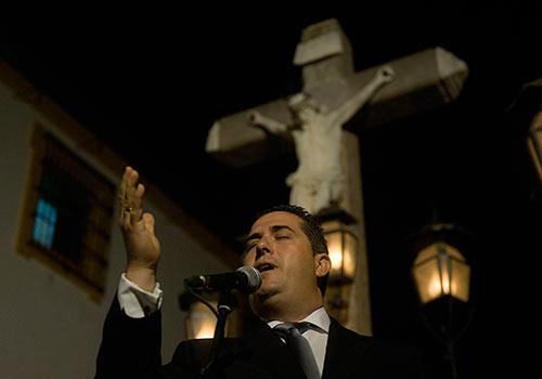 Acto de exaltación a la Saeta en la Plaza de Capuchinos. Foto: Toni Blanco.