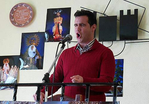 Bernardo Miranda en la Exaltación a la Saeta celebrada en la Peña 'Antonio Porras'.