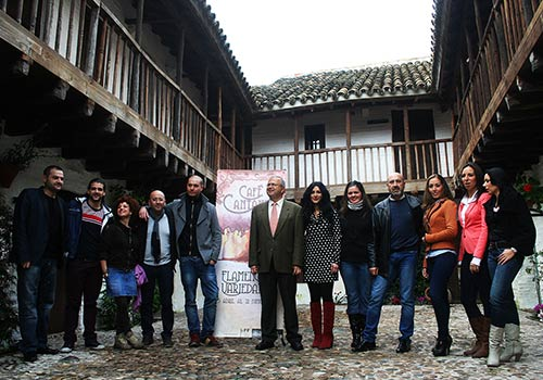 Acto de presentación del ciclo 'Cafe Cantante' en la Posada del Potro Foto: Rafa Butelo.