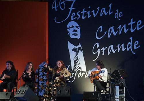 Manuela Cordero en la última edición del Festival de Cante Grande 'Fosforito' de Puente Genil. Foto: Toni Blanco.