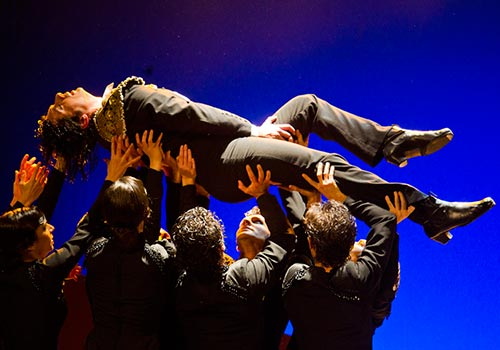 Espectáculo 'Llanto por Ignacio Sánchez Mejías' del Ballet Flamenco de Andalucía.