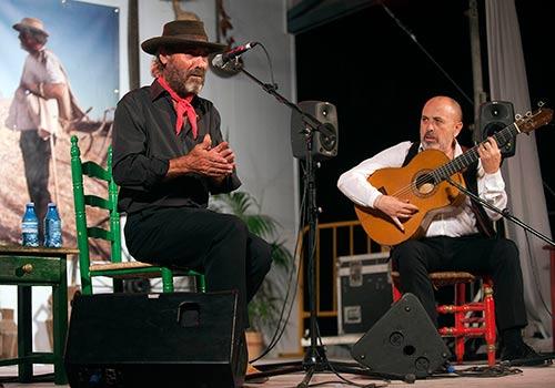 El Cabrero y Rafael Rodríguez en la última edición de la Noche Flamenca de Zambra. Foto: Toni Blanco.