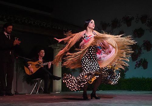 Olga Pericet en uno de los momentos de su espectáculo 'De una Pieza' en el Palacio de Viana. Foto: Toni Blanco.