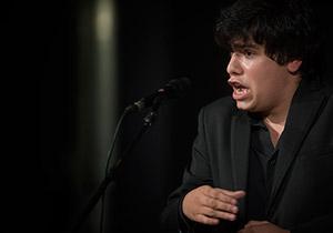 José Muñoz en una de sus actuaciones en el Certamen de Jóvenes Flamencos de Córdoba. Foto: Toni Blanco.