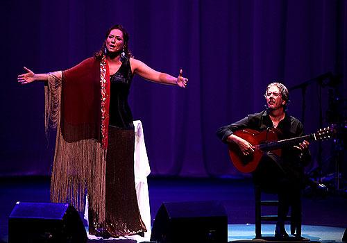 Marina Heredia y Miguel Ángel Cortés en la Bienal de Flamenco de Sevilla. Foto: Antonio Acedo.