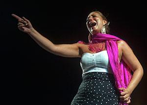 Actuación de Marina Heredia en la Cata Flamenca de Montilla 2012. Foto: Toni Blanco.