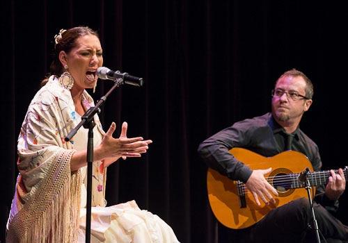 Marina Heredia en una reciente actuación en los Jueves Flamencos de Cajasol. Foto: Adam Newby.