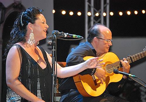 Pepa Abad y Rafael Trenas en una reciente actuación. Foto: cordobaflamenca.