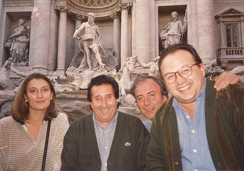 El cantaor Antonio Perea en Roma, junto a Rafael Trenas, Fátima Franco y José Farina.
