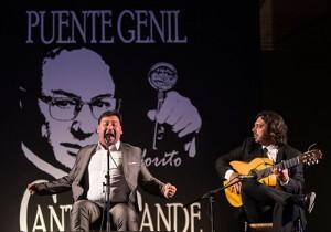 José Valencia en la última edición del Festival de Cante Grande Fosforito de Puente Genil. Foto: Miguel Valverde.