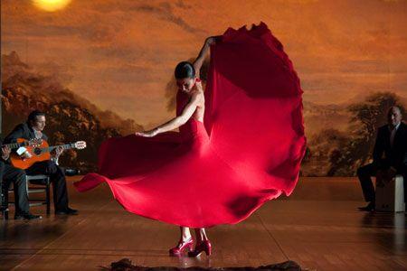 Sara Baras en el film 'Flamenco, Flamenco' de Carlos Saura.