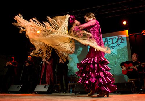 Alba Luna y su grupo. Foto: M. Valverde.