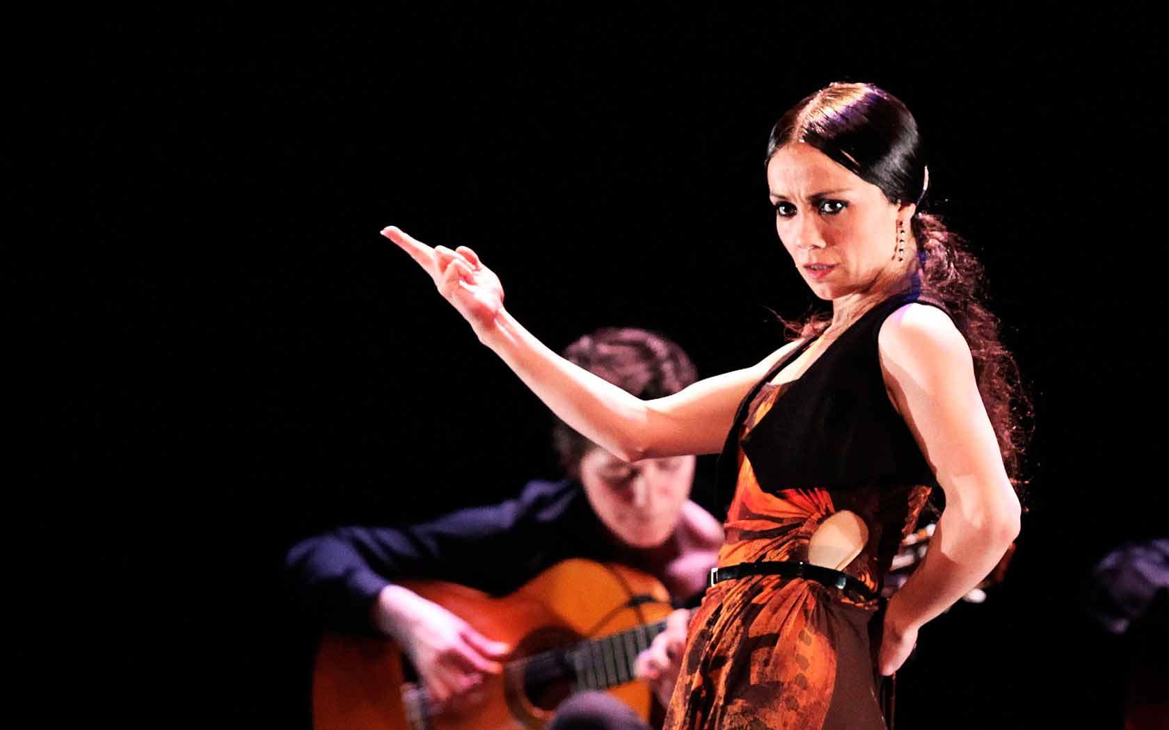 La bailaora cordobesa Olga Pericet, durante una actuación.