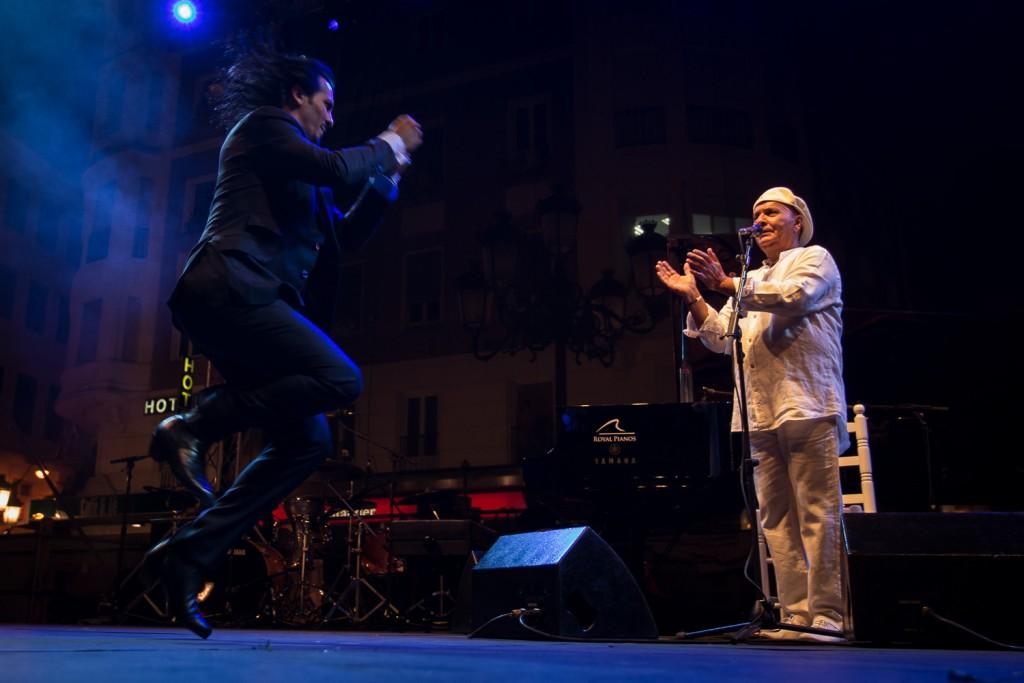 Farruquito y El Pele, en la Noche Blanca del Flamenco 2015. Foto: Miguel Valverde.