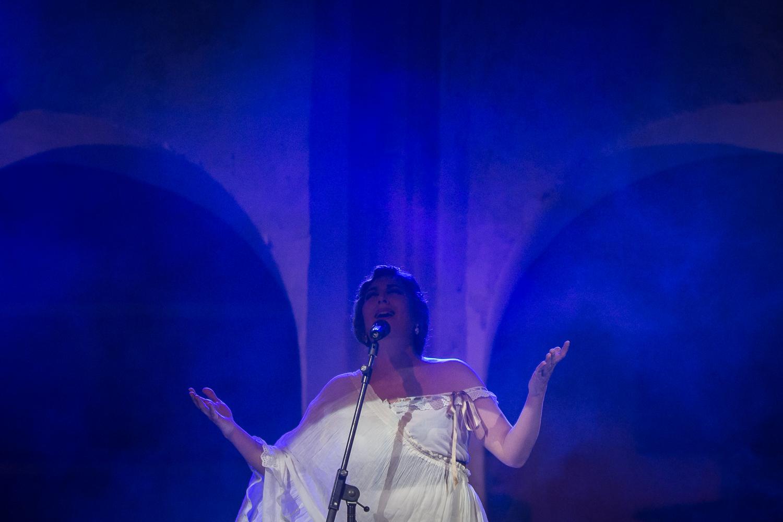 Estrella Morente, en la Noche Blanca del Flamenco de Córdoba. Foto: Miguel Valverde.