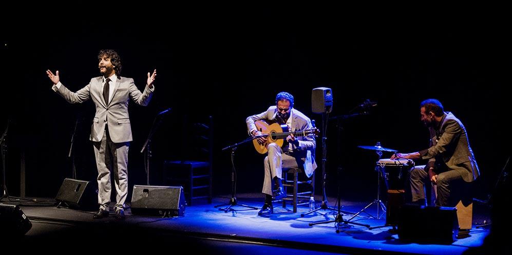 Antonio Reyes y Diego del Morao, en el Teatro Lope de Vega de Sevilla. Foto: Óscar Romero.
