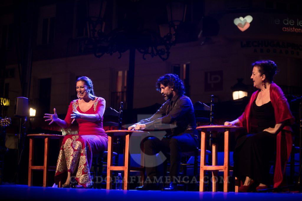 Arcángel, Marina Heredia y Carmen Linares. Noche Blanca del Flamenco 2017. Foto: Miguel Valverde.