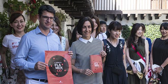 Pedro García, teniente de alcalde y concejal de Turismo, en la presentación de 'El Barrio Flamenco'. Foto: cordobaflamenca.com