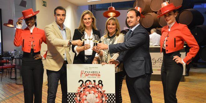 Brindis en la presentación de la Pasarela Flamenca de Jerez 2018. Foto: Pasarela Flamenca de Jerez.