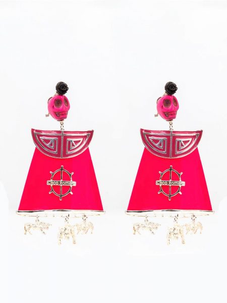 Pendiente de Flamenca en plata y oro - Pendientes de plata - Juana Martín- Pendientes de Flamenca originales - Pendientes de flamenca artesanales - Pendientes Realizados a mano - Cisco Romero - Complementos de Flamenca - Moda Flamenca - Joyería cordobesa