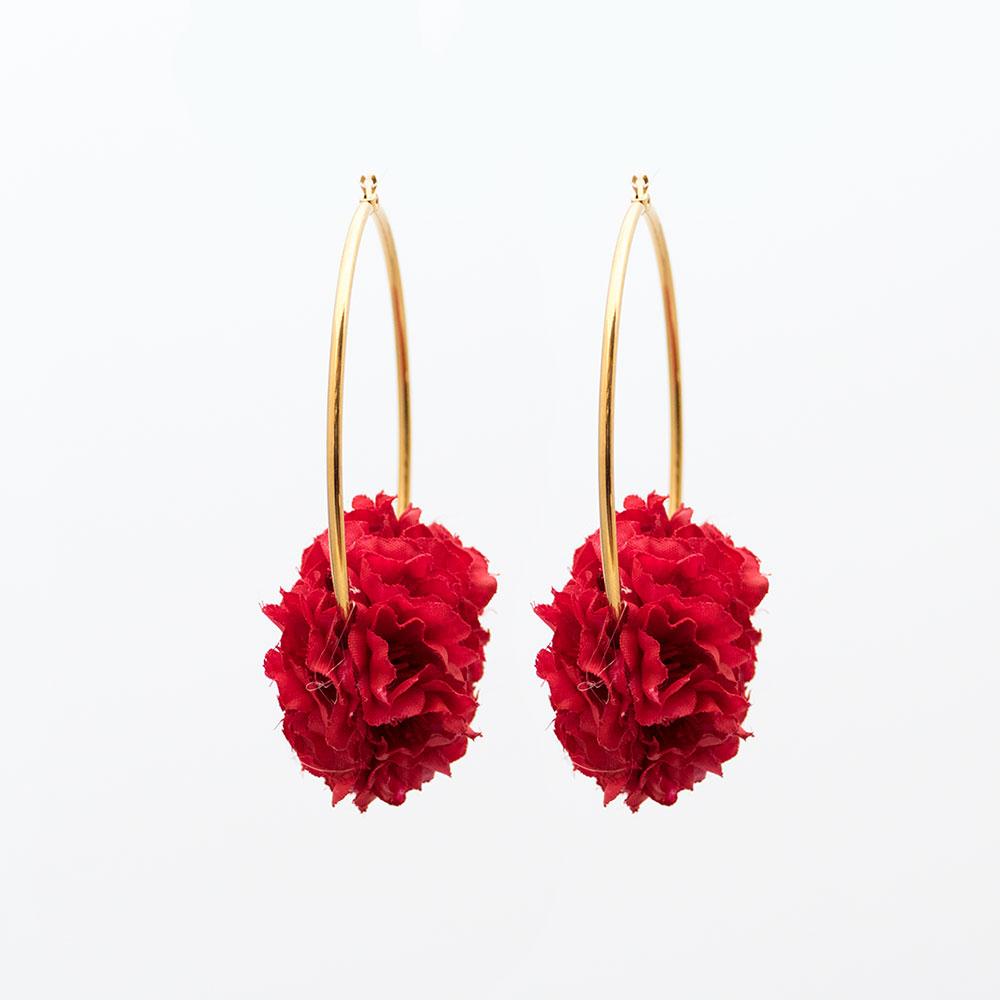 f4b747659 Pendientes de Flamenca 2018 - Pendientes de flamenca de aro - Pendientes de  Flamenca Rojos -