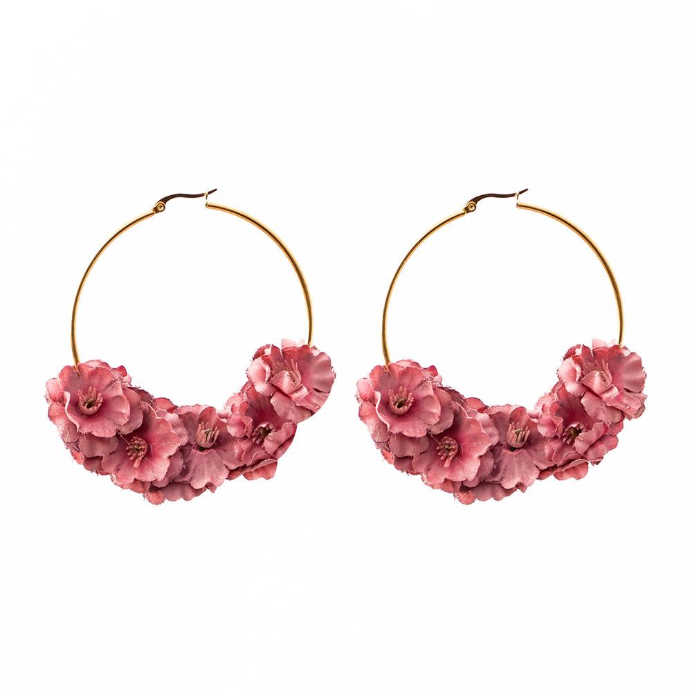 938e490cf Pendientes de Flamenca - Pendientes de flamenca Rosa Nude- Pendientes de Flamenca  dorados - Pendientes