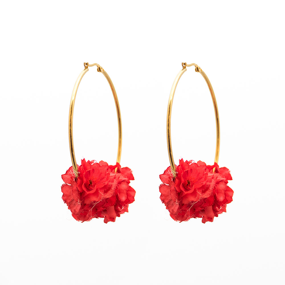 9a14d8360 Pendientes de Flamenca 2018 - Pendientes de Flamenca de flores - Pendientes  de flamenca de aro