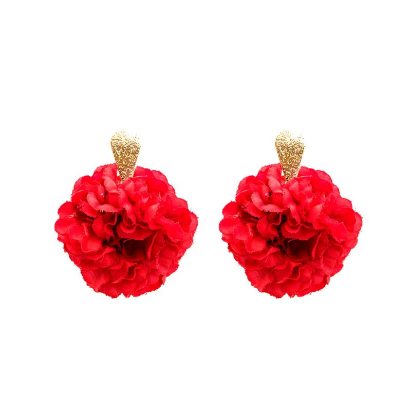 Pendientes de Flamenca 2018 - Pendientes de flamenca de aro - Pendientes de Flamenca de Flores - Pendientes de Flamenca Rojos - Pendientes de Flamenca Clavel - Pendientes de Flamenca Dorados - Pendientes de Flamenca originales - Pendientes de Flamenca artesanales - Pendientes de Flamenca Hechos a Mano - Marbearte