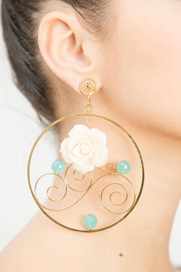 Pendientes de Flamenca de Oro - Pendientes de Flamenca de Aro - Cisco Romero - Pendientes de lujo - Pendientes y joyas -