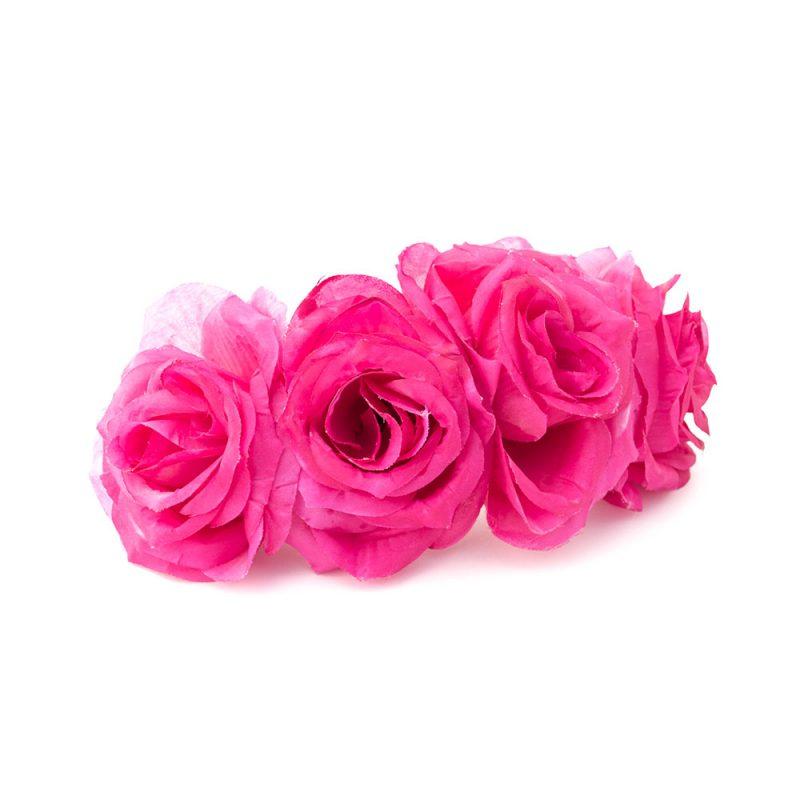Semicorona de flamenca de rosas - Semicorona de flamenca de flores - Complementos de flamenca de flores - Complementos de flamenca de rosas - Complementos de flamenca hechos a mano - Complementos de flamenca de flores - Complementos de flamenca 2018