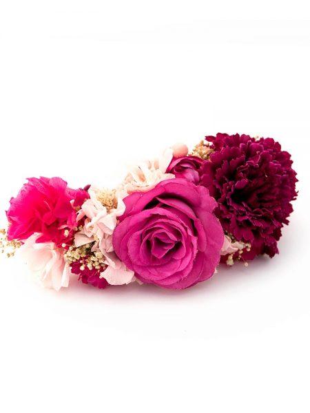 Tocado de flamenca - Tocado de flores de flamenca - Tocado de flores - Tocado de claveles - Tocado de Rosas -. Tocado de flores secas - Tocado de flores rosas - Tocado de Flores hecho a mano - Tocado de flores de tela - Tocado de flores de flamenca - Tocado de flamenca artesanal - Complementos de flamenca