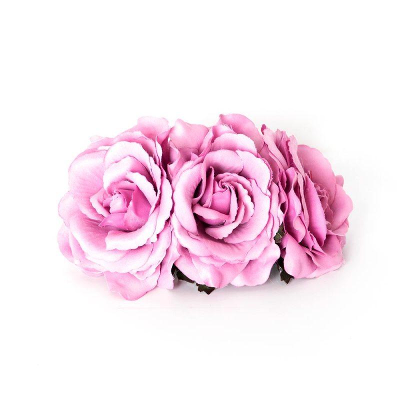 Tocado rosas - Complementos de flamenca -Moda Flamenca - Flores de Flamenca - Semicorona de Flores - marbearte - Flores hechas a mano - Complementos de flamenca artesanales
