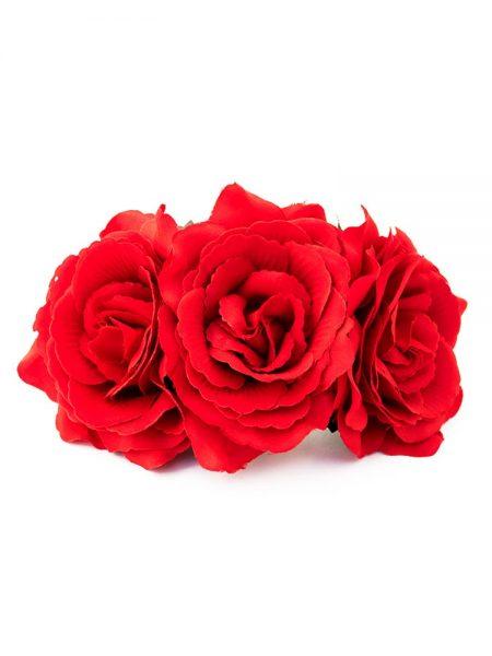 Tocado de flamenca - Tocado de flores de flamenca - Tocado de flores - Tocado de claveles - Tocado de Rosas - Tocado de flores rosas - Tocado de Flores hecho a mano - Tocado de flores de tela - Tocado de flores de flamenca - Tocado de flamenca artesanal - Complementos de flamenca