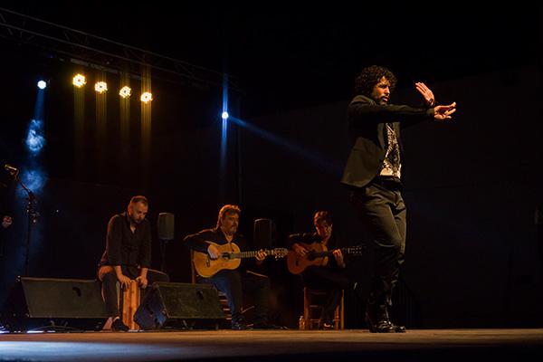 Rafael del Pino 'Keko', en Patio de San Basilio. Foto: Victoria Montaño. - Noche Blanca del Flamenco 2018