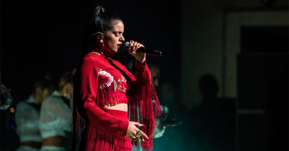 Rosalía en una actuación reciente en Miami. Foto. Miguel Hernández.